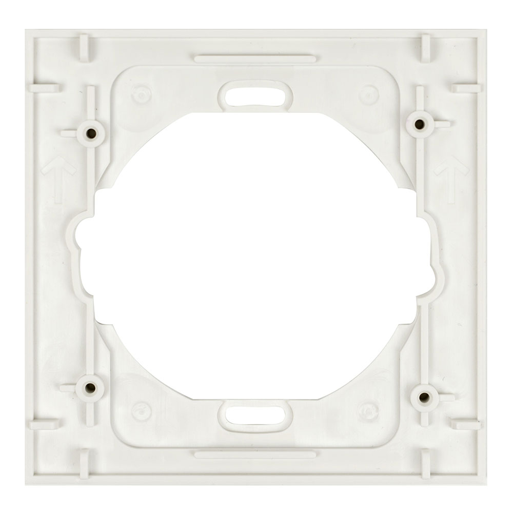 Square Single Trim Ring 5 Pack Snow White