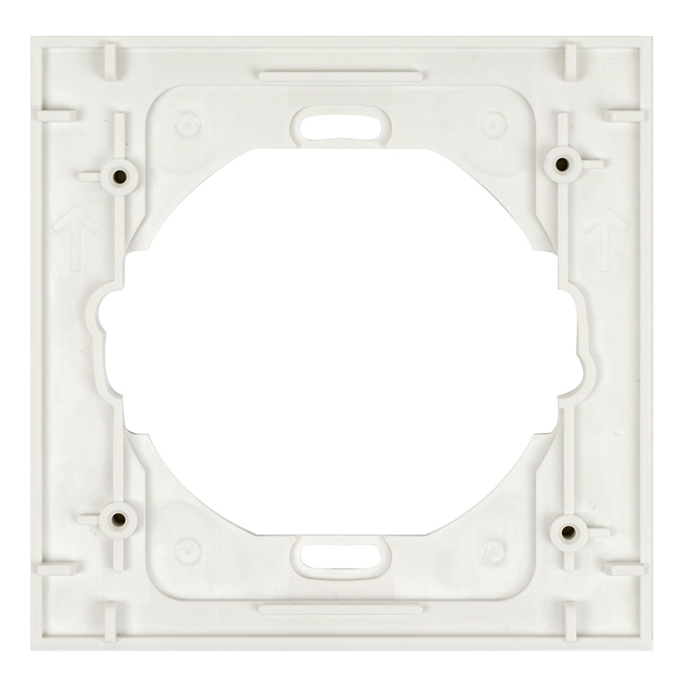 Square Single Trim Ring 5 Pack White